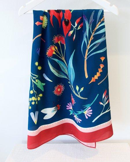 Julie White Wild Flowers Silk Scarf - 90cm x 90cm