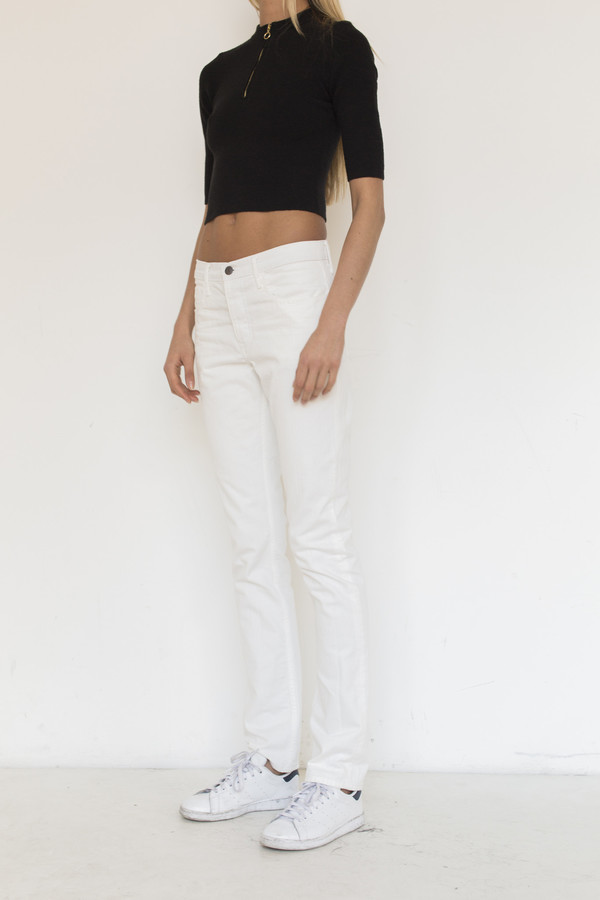 Thvm Denim Tapered Jean - White