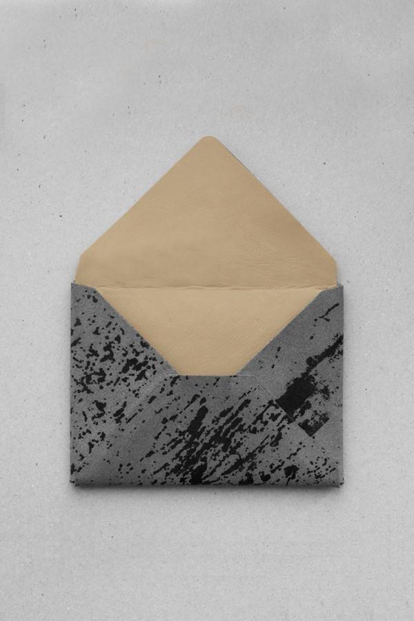 Anve Suede Envelope Cardholder
