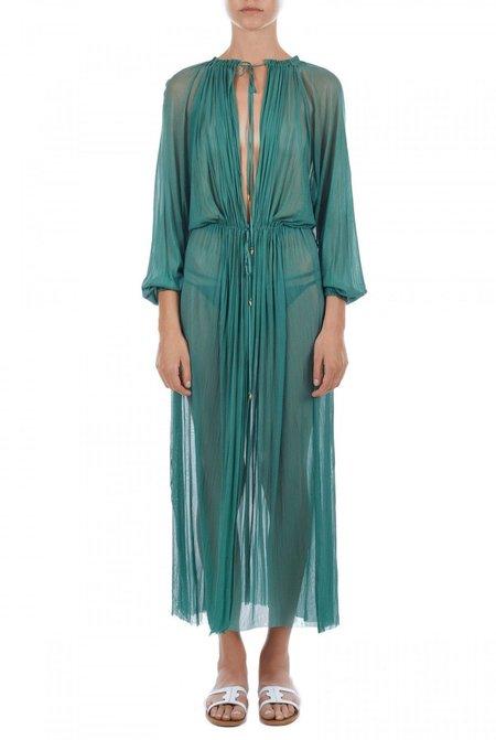 Elena Makri Nemesis crinkled silk-tulle cover up - Green