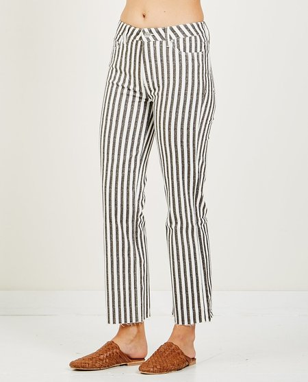 Paige ATLEY ANKLE FLARE WITH RAW HEM - STRIPE
