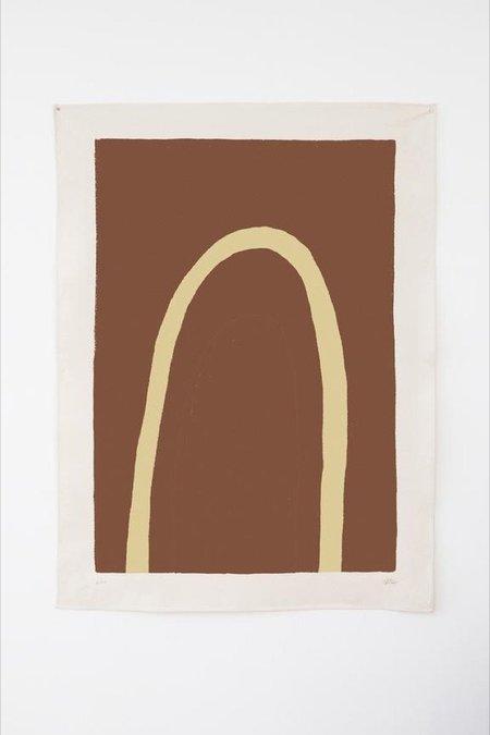 Upton Truss Canvas Print - Rust