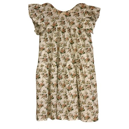 KIDS babe and tess double dress - pink flower