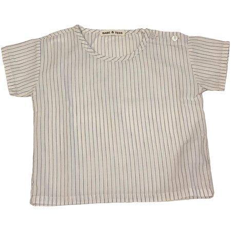 KIDS babe and tess t-shirt - blue stripe