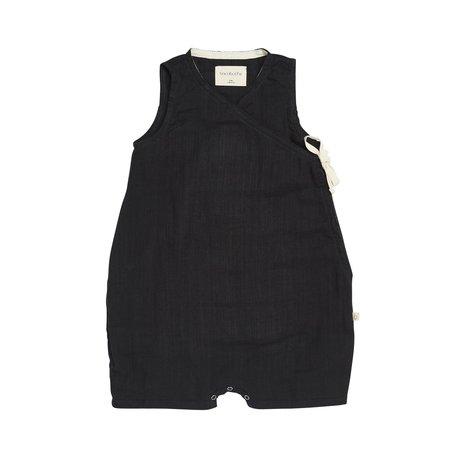 KIDS bacabuche kimono sleveless romper - black