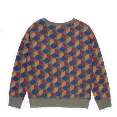 kids barn of monkeys long sleeve cubes sweatshirt - multicolor cubes