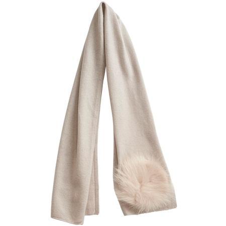 kids belle enfant scarf with shearling details - alabaster