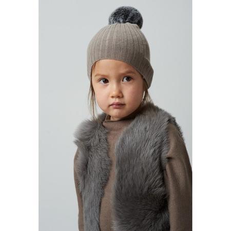 kids belle enfant shearling gilet - grey