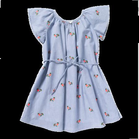 kids bonheur du jour holi dress - blue/white