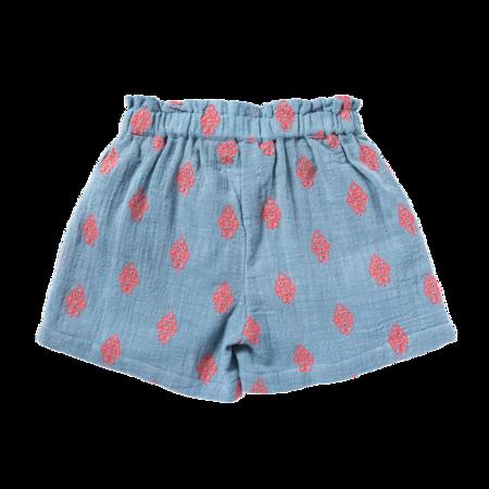 kids bonheur du jour ombeline shorts - flowers blue
