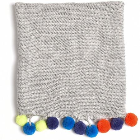 Kids Cabbages & Kings Double Wrap Infinity Pom Scarf - Grey