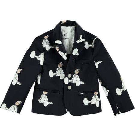 KIDS caroline bosmans printed suit coat - BLACK
