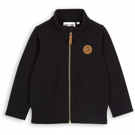Kids Mini Rodini Fleece Jacket - Black