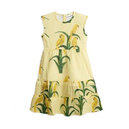 Kids Mini Rodini Parrot Woven Dress - Yellow