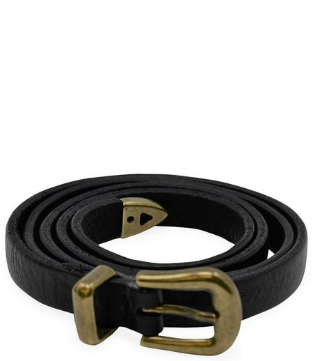 RICCARDO FORCONI ZAMA LEATHER BELT - NERO