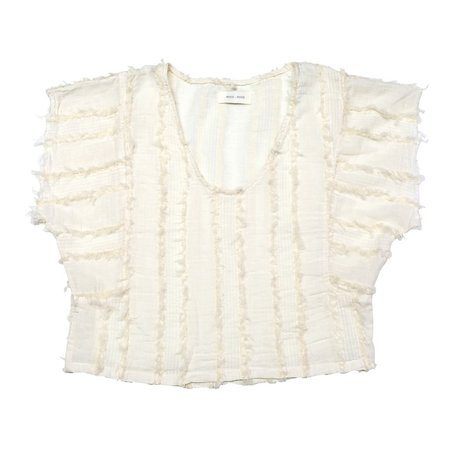 nico nico griffith striped crop top - natural