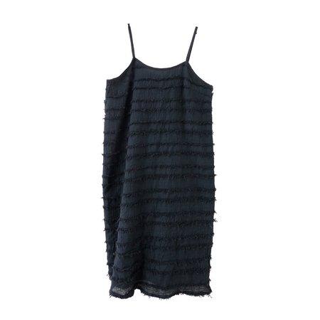nico nico rowena stripped dress - black