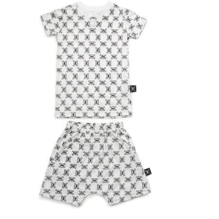 Kids Nununu Mini Skull & Crossbones Loungewear - White