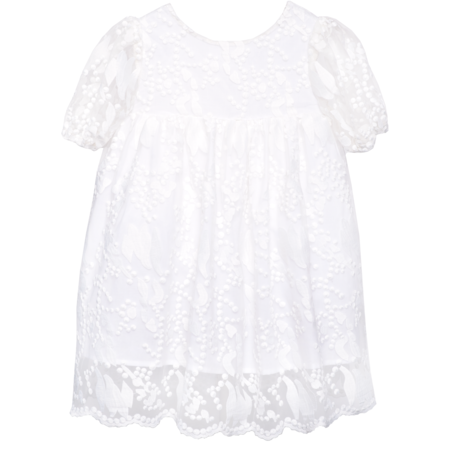 kids paade mode embroidered dress - pearl