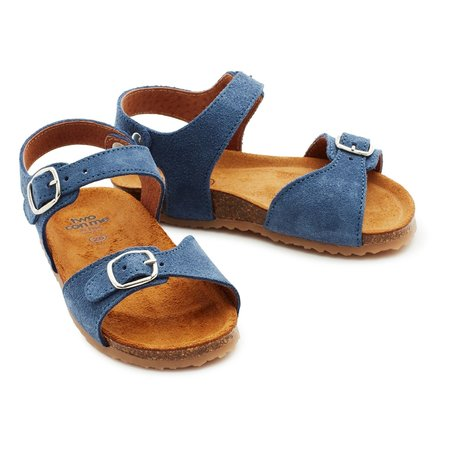 Kids Unisex pepe two con me buckle sandals - denim blue