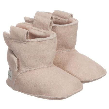 kids petit nord booties with velcro - pale rose