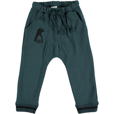 kids picnik penguin trousers - forest green