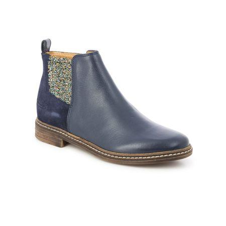 kids pom d'api brother alzina marine boots - navy blue