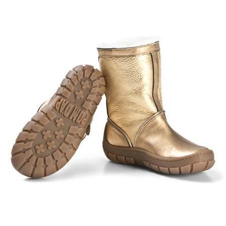 kids pom d'api piwi chabraque boots - gold