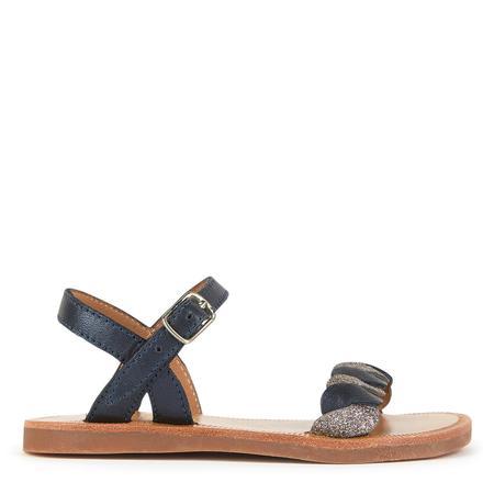 kids pom d'api plagette twist sandals - navy