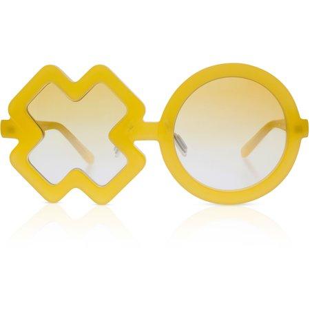 Kids Sons + Daughters Xo Sunglasses - Mango Yellow