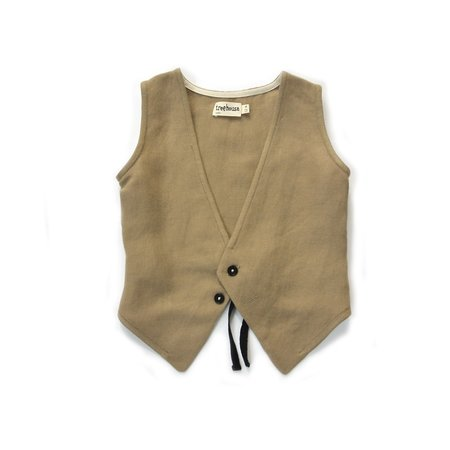 kids treehouse lenio waistcoat - amber