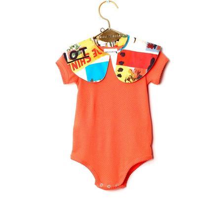 Kids Wolf & Rita Carminho Mister W Baby Bodysuit - Orange