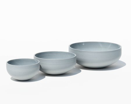 Luke Eastop Trio of Porcelain Bowls - Blue