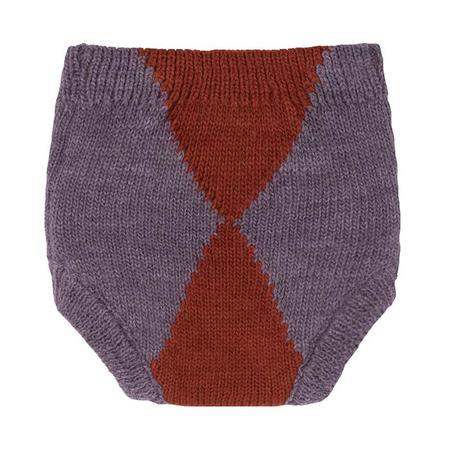 Kids Bobo Choses Baby Knitted Culotte Shorts - Jacquard Purple/Red