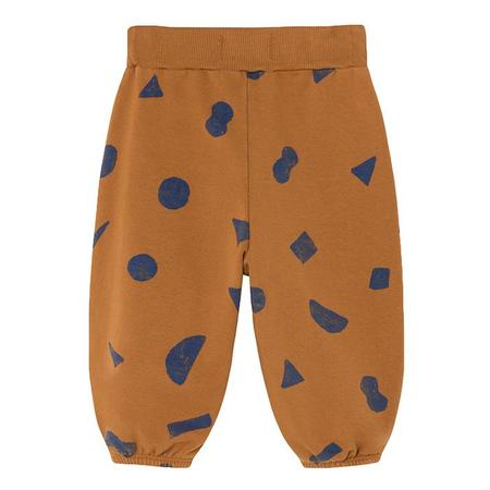 Kids Bobo Choses Baby Sweatpants With All-Over Blue Shapes Print - Brown