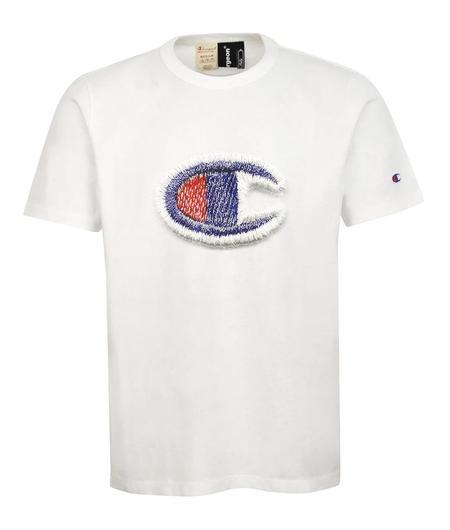 Champion x Clothsurgeon Double Logo Printed Tee White