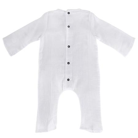 KIDS UNISEX Pequeno Tocon Baby Long Sleeved Jumpsuit - White