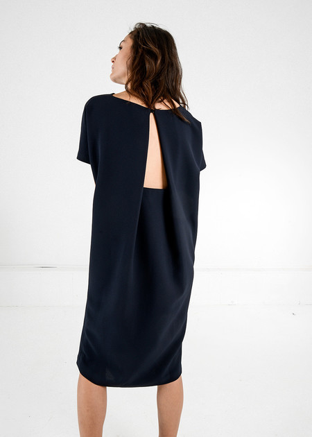 Kaarem - Triangle Midi Dolman Open Back Dress