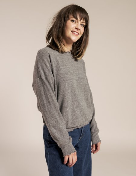 LnA Brushed Nora Top - Heather Grey