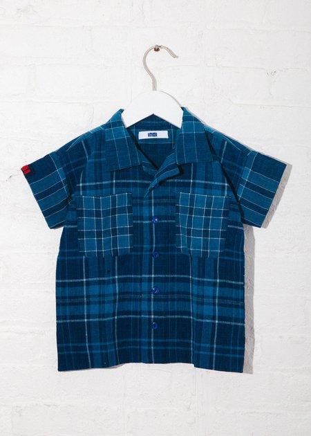 Kids Indi-Kids Mak Camp Shirt - Hand Woven Plaid