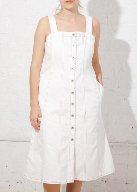 Kowtow Panel Dress - Ecru Denim