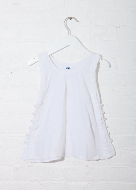 KIDS Indi Rove Dress - Off-White Double Gauze