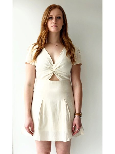 Afends cabarita hemp dress - antique white