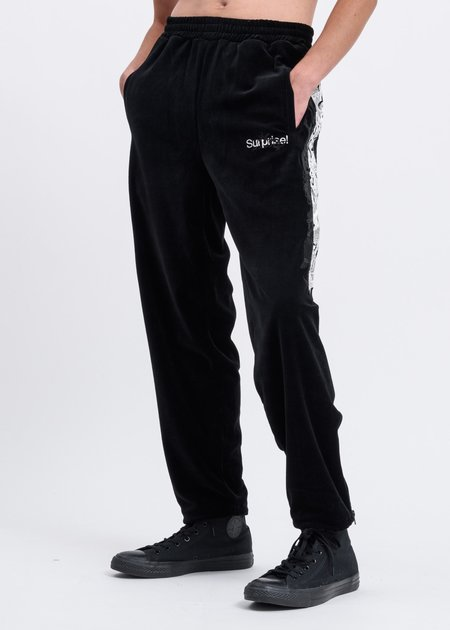 Doublet Lined Chaos Embroidery Track Pants - Black