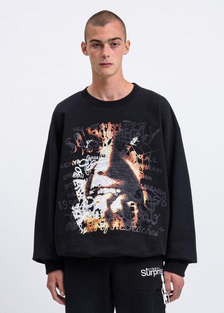 "Doublet ""Horror"" Embroidery Sweatshirt - Black"