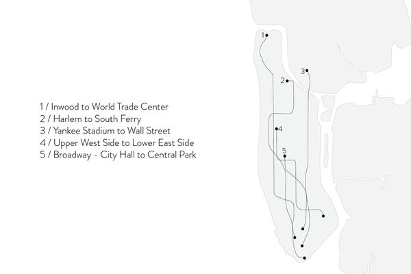 Shahla Karimi Subway Series Cuff - Inwood to World Trade Center