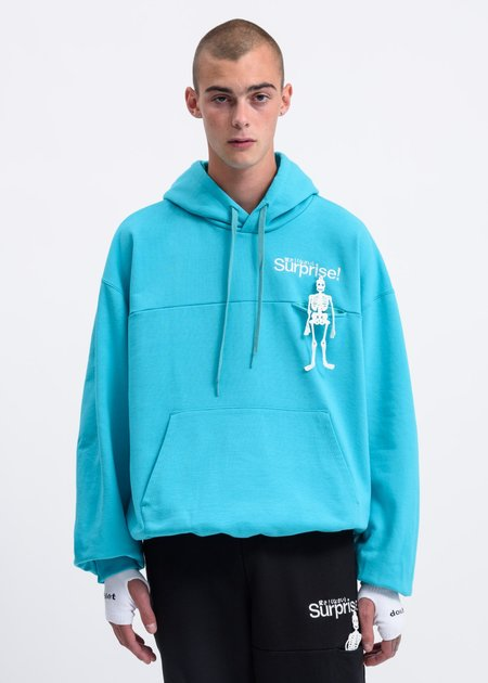 """Doublet """"Surprise"""" Embroidery Hoodie - Mint"""