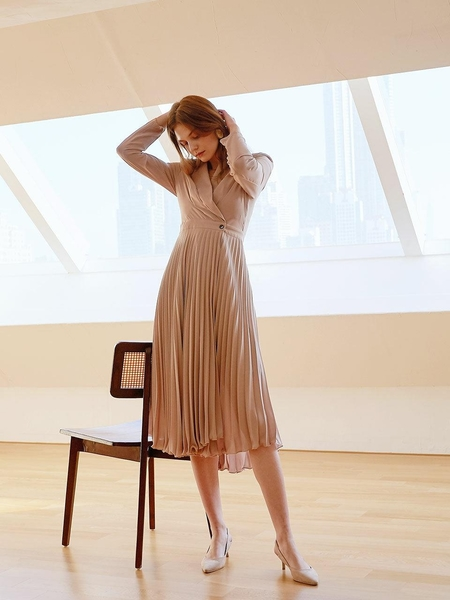 ANGELO BIANCO Pleats Dress