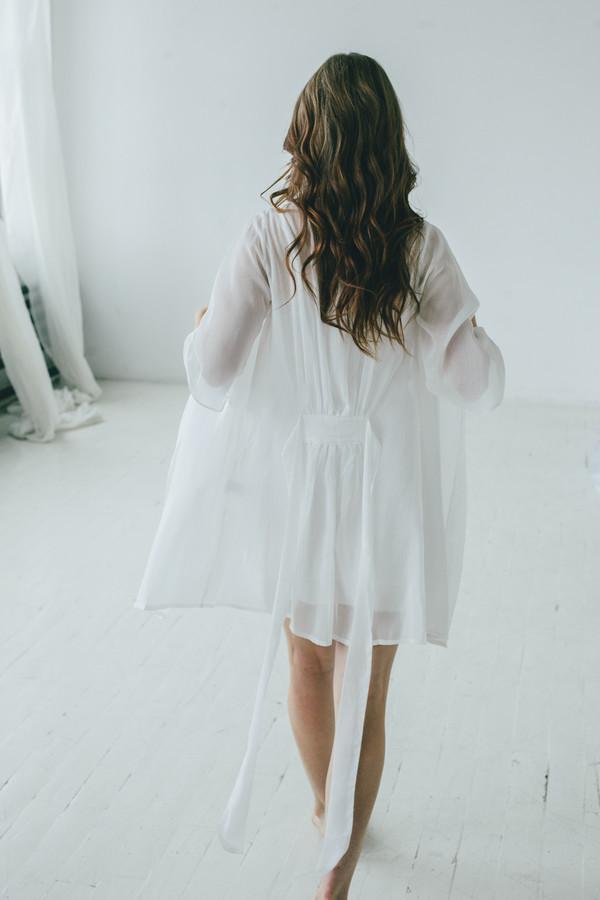 Salua Atelier Italian Cotton/Silk Short Robe