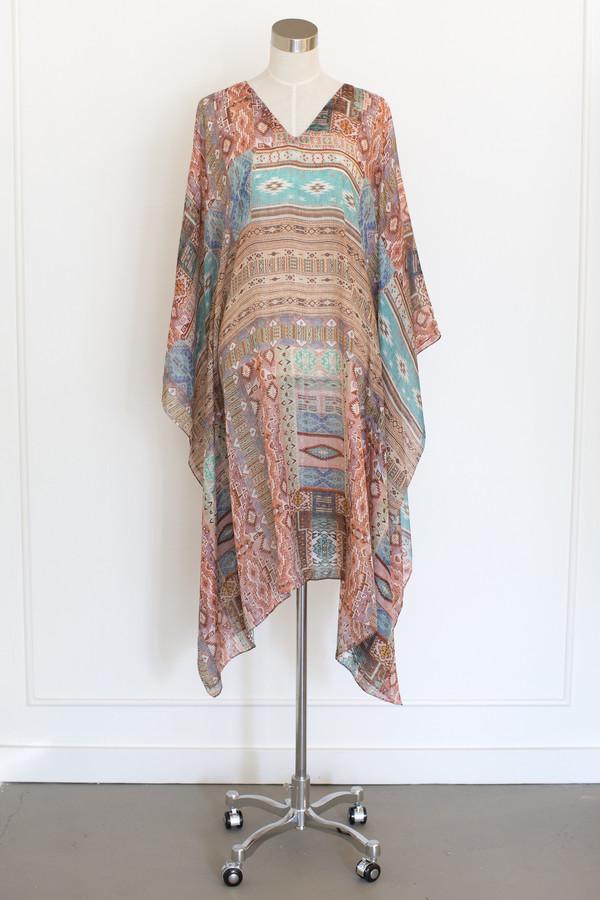 Salua Atelier Cotton/Silk Multi Colored Kaftan